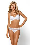 Push-up bra, lace, bow, A to F-cup